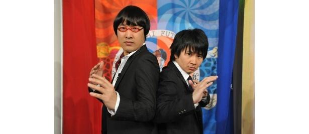 4月3日(火)スタートの「たりないふたり」(日本テレビ)に出演する山里亮太と若林正恭(写真左から)