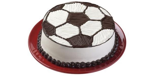 こちらはサッカーボールをイメージした一品