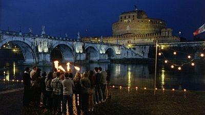 ローマの美しい夜景