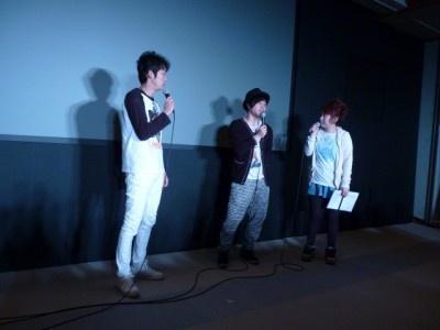 「第4回沖縄国際映画祭」で舞台あいさつをするNON STYLEと出雲阿国