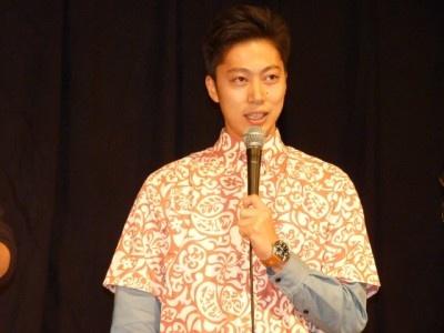 アロハ柄のシャツでホテルマンと間違われたはんにゃ・金田