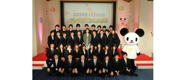 【写真】武井が希望に胸を膨らませる新入社員たちを激励!