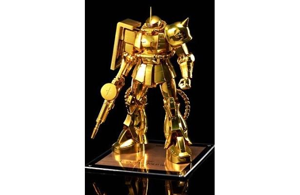 ゴージャスなゴールドカラーのザク