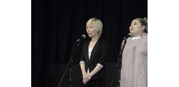 【写真を見る】作品への思いを語る浜崎綾監督ほか、『SPOTLIGHT』舞台あいさつの様子はこちら