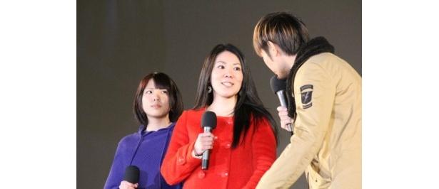 上映作品「ナビィの恋」を推薦した一般ゲストの田崎豊夏さんと山城優子さん