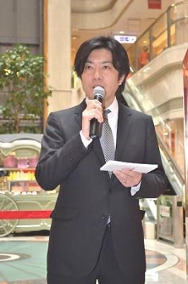 日本コカ・コーラフランチャイズ・オペレーションズ・ベンディング事業部の仁科尚文マネジャー