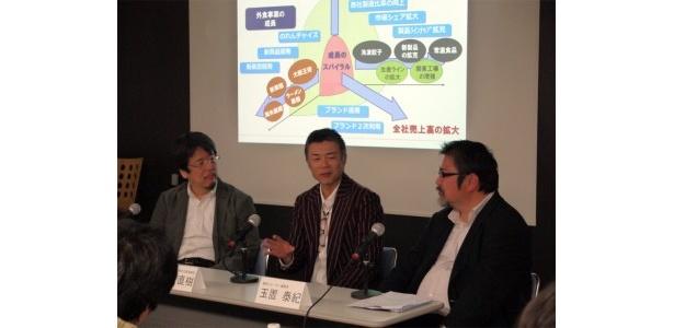 文野直樹社長(中央)に、大阪王将の歴史などをたっぷり語っていただきました!