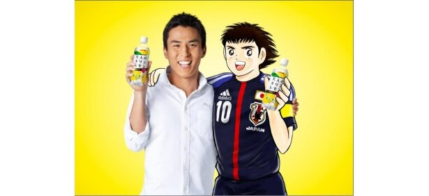 現サッカー日本代表と、漫画界の日本代表が夢の共演を果たす