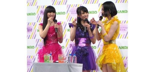 【写真】Perfume・あ~ちゃんは「ピュレグミが大好きで、大ファンなんです」と告白