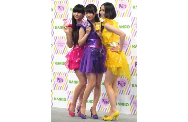 Perfumeが出演するピュレグミ新CMは4月5日(木)から放送開始