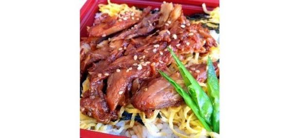 黄金龍のハモニカ飯¥600(1食・土曜、日曜限定)/ハモニカはメカジキの背びれの付け根部分。上質なうまみが凝縮、コラーゲンたっぷり