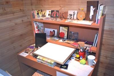 原作者・小畑友紀さんの仕事部屋を再現