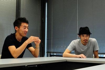 32歳の西野恭之介(右)と33歳の小林幸太郎(左)、芦屋出身、芦屋在住で同級生の松竹芸能所属コント師。