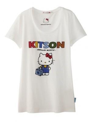 【写真】ユニクロ×kitson×キティのトリプルネーム「hello kitson」の白Tシャツ