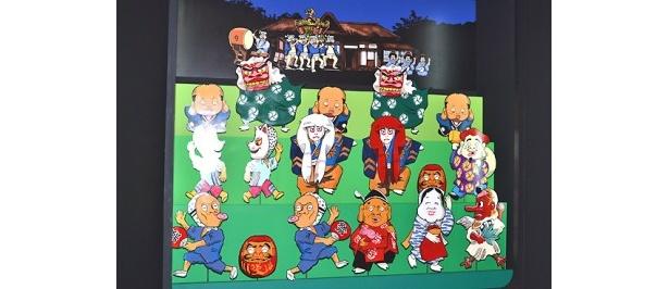 可愛らしいキャラクターが並んだ「大江戸パペットシアター」
