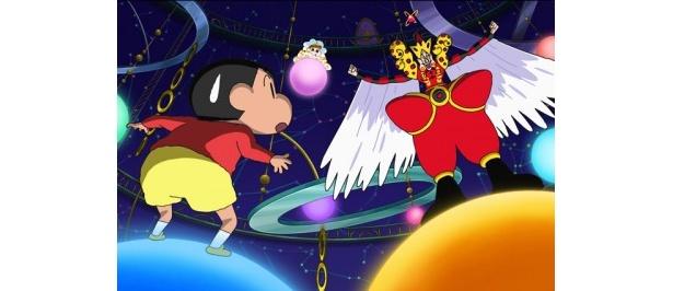 宇宙を舞台に、長女・ひまわりを救い出すべく野原一家が奮闘する『映画クレヨンしんちゃん 嵐を呼ぶ!オラと宇宙のプリンセス』