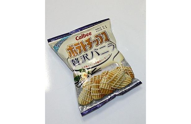 4月16日(月)よりコンビニエンスストアで先行発売される「ポテトチップス贅沢バニラ」