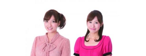 左から中野涼子アナ、栗山麗美アナ