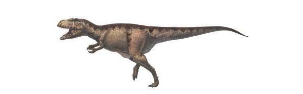 マプサウルスのイメージ図。最大級の肉食恐竜だ