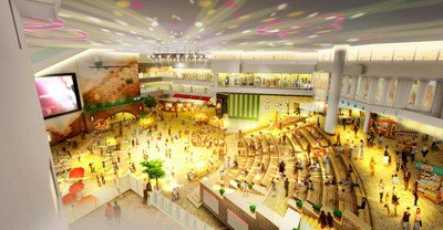 9~12階の4層吹き抜け、高さ16mの大広間「祝祭広場」
