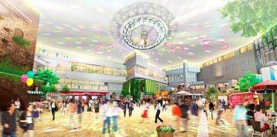 「祝祭広間」(北西面)。期間限定のマーケットなど様々なイベントが開催される