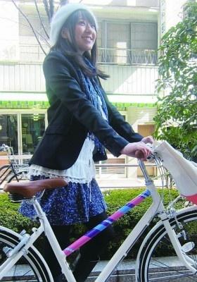 自転車デコシールで自転車をかわいくしよう!