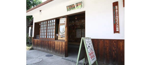 レトロな玩具や駄菓子を展示する「駄菓子屋博物館」も併設(土日祝の9:00〜17:00のみ開館)