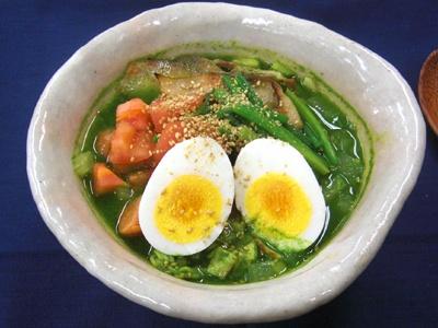 「けっこー健康☆ミドラーメン」。野菜たっぷりなのがうれしいラーメン。準優勝を獲得