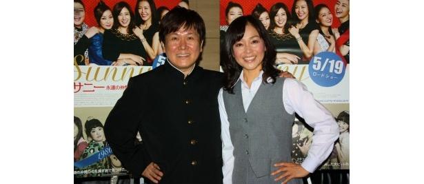 「タッチ」の声優・三ツ矢雄二と日高のり子が学生服で同窓会!