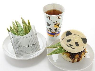 「『竹大盛り!』~パンダくんマフィンセット」(850円、ノースカントリーキッチン)