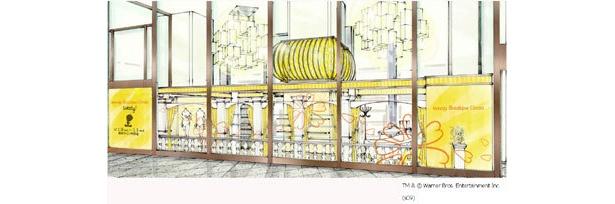 「Tweety Boutique Ginza」外観イメージ図