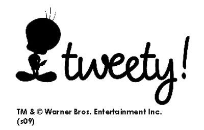 """ワーナー・ブラザースの人気キャラクター""""Tweety""""ショップロゴ"""