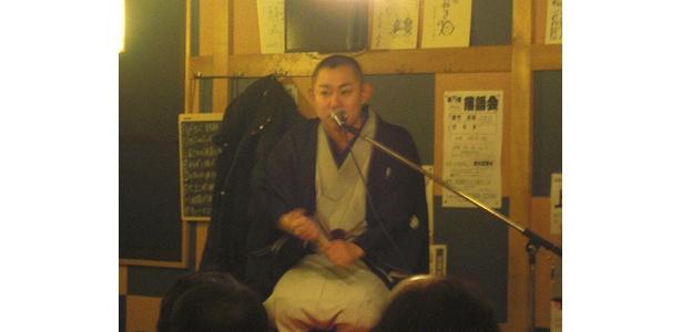 第75回落語会には、三笑亭夢吉さんがゲストに