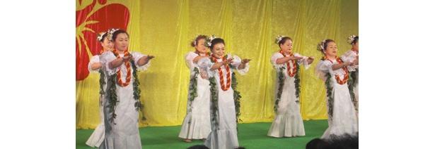 一般のフラダンス団体の方々にも晴れ舞台