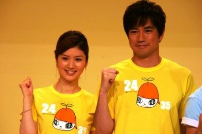 昨年に続き総合司会を担当する羽鳥慎一(右)と鈴江奈々アナ(左) 昨年に続き総合司会を担当する羽鳥
