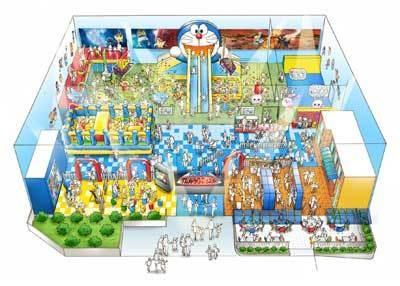 子供は遊具で、大人はフォトやムービーコーナーでたっぷり遊ぼう!※完成イメージ