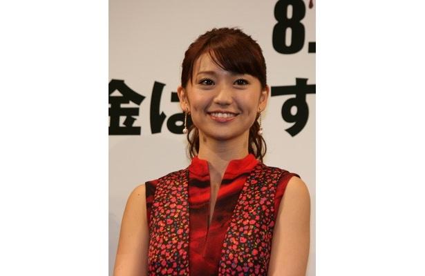 『闇金ウシジマくん』の完成披露試写会に登壇した大島優子
