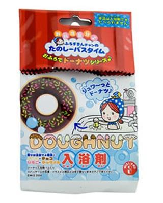 入浴剤がシュワシュワ溶けてドーナツを揚げているみたい!「ふろずきんチャンのたのしーバスタイム おふろでドーナツシリーズ (1個入)」 販売元/ウィズランド