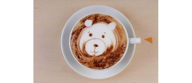 かわいいクマのラテ(写真はイメージ)
