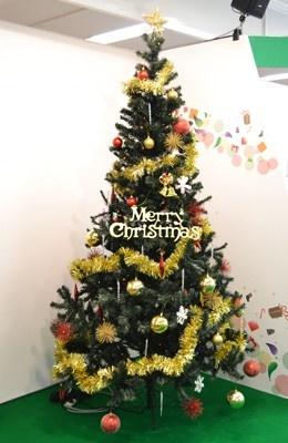 会場にはクリスマスツリーも飾られていた