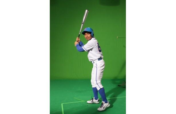 普段は見ることができない長友選手の野球ユニホーム姿