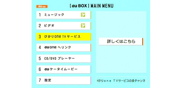 TVとネットにつなげれば、「au BOX」の世界はますます広がる