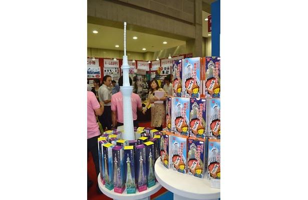 東京スカイツリーをイメージしたお菓子も多数展示