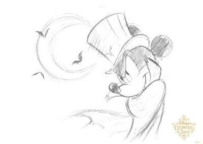 約30分で、こんなに上手いミッキーを描ける「ディズニードローイングクラス」は大人気(1回500円、キャンバスと鉛筆がセット)