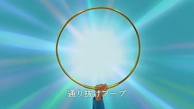 """ドラえもんが取り出したのは、漫画にも出てくる道具""""通り抜けフープ""""!!"""