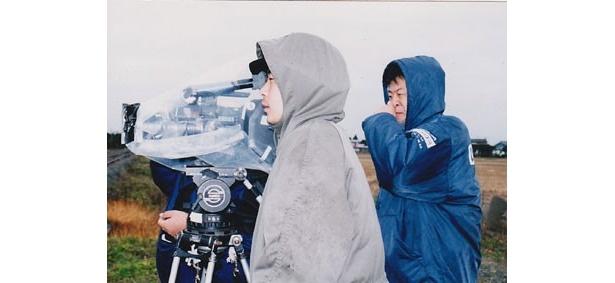 『風』を撮影中の園監督