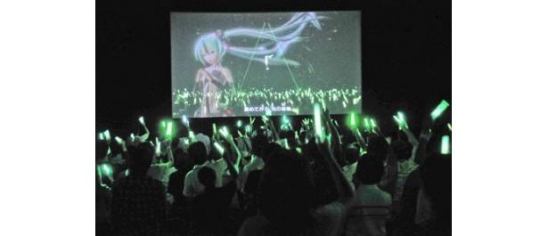 こちらは21時からの「初音ミクライブパーティー2012(ミクパ♪)」の模様