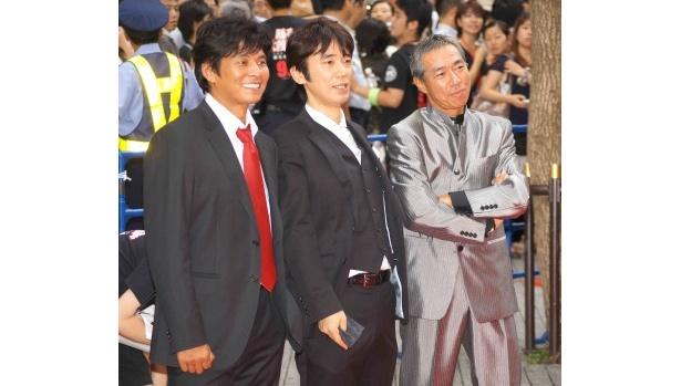 【写真】織田、ユースケ・サンタマリア、柳葉敏郎(写真左から)