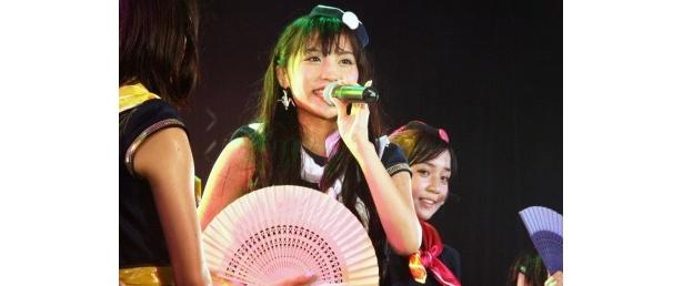 この夏の一番の思い出は「Zepp Tokyoで『ぱすぽ☆のこと好きな人は両手を挙げて!』と言ったら全員が手を挙げてくれたこと」というキャプテンのあいぽんこと根岸愛