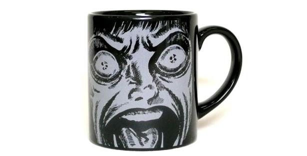 「漂流教室フェイス黒のマグカップ」(840円)